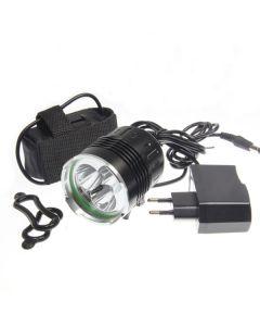 SKY RAY 3T6 kolo světlo 3xCree XM-L T6 3800 lumenů 4 režimy LED kolo světlomety