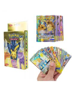 100 Assorted Pokemon Cards 37 GX 63 TAG TEAM Sealed Booster Box Trading Cards