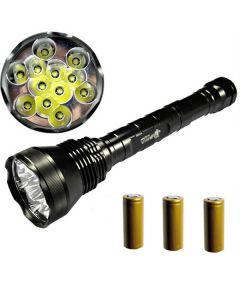 EternalFire 12T6 vysokého výkonu 12 * Cree XM-L T6 LED baterka 13800 lumenů 5 režimy LED svítilna Set kompletní Set