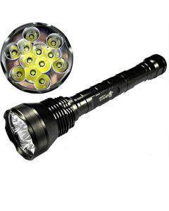 EternalFire 12T6 vysokého výkonu 12 * Cree XM-L T6 LED baterka 13800 lumenů 5 režimy LED svítilna Set-Light jednotka pouze