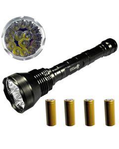 EternalFire 15T6 vysokého výkonu 15 * Cree XM-L T6 LED baterka 18000 lumenů 5 režimy LED svítilna Set kompletní Set