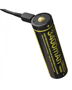 NITECORE NL1834R 3.6V Vysoce výkonná dobíjecí baterie Micro-USB 18650