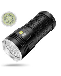 NiteBeam 18xCREE XML T6 4 Režimy 15000 Lumen Dobíjecí USB typ-C LED svítilna