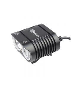 UniqueFire HD-016 2 * Cree XM-L2 4 režimy 1800 lumen LED Bike lehké kolo přední světla černá
