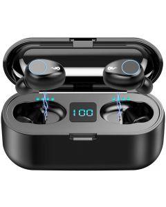 F9 TWS Bezdrátové Bluetooth 5.0 Sluchátka, IPX7 vodotěsné dotykové sluchátka do uší sportovní sluchátka