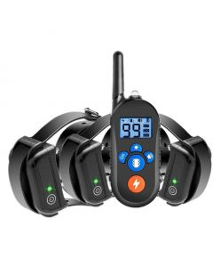 800m elektrický psí výcvikový obojek, psí šokový obojek w / 3 tréninkový režim, elektronický výcvikový obojek pro psy s dálkovým ovládáním pro malé středně velké psy, 100%vodotěsný