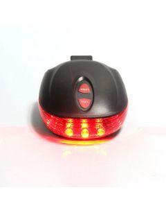 5LED + 2Laser 7 režim blesku Cycling bezpečnostní zadní světlo na kolo, vodotěsné kolo Laser Tail světlo varování lampa bliká