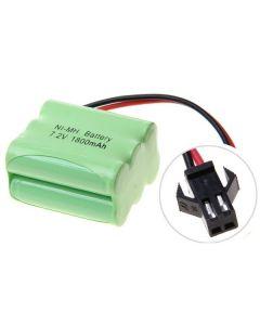 Ni-MH AA 7.2V 1800mAh SM konektor 6 * AA baterie Pack