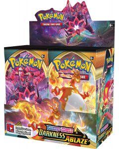 360ks Pokémon TCG: Sword & Shield Darkness Zapálení Zapečetěný booster box 36 balení karty