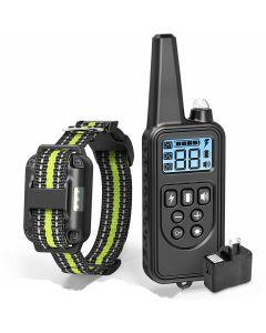 2019 nová 800 m elektrická psí tréninková objímka PET dálkový ovladač Vodotěsný dobíjecí displej s LCD displejem pro všechny velikosti kůra-zastavit Kolary