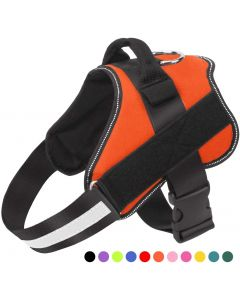 Psí postroj, No-Pull Reflexní prodyšná nastavitelná pet vesta s rukojetí pro venkovní chůzi