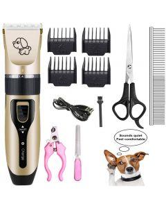 Pet Nabíjení Elektrické Nůžky, Pet Elektrický holicí strojek Kočka a pes elektrický zastřihovač na vlasy, pes profesionální krása výbava sada může být nabitá
