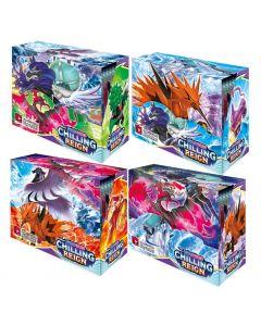 4X360pcs Pokémon TCG: Sword & Shield Chilling Reign Booster Display Box Collection Kartová hra Dětská dárek