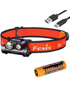 Fenix HM65R-T 1500 Lumen Duální nosník USB-C Dobíjecí světlomet, lehký pro trailový běh s LumenTac Battery Organizer