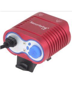 UniqueFire HD-016 2 * Cree XM-L2 4 režimy 1800 lumen LED Bike lehké kolo přední světla červené