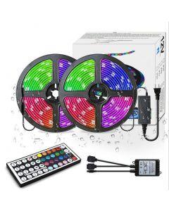 Indikátory LED v barvách RGB 300LED M Změna barvy 5050 flexibilní LED kontrolka osvětlení lišta s 44 tlačítky IR dálkové ovládání a UL.