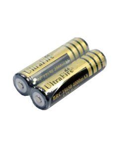 Ultrafire Protected BRC 4000mAh 3.7V 18650 Li-ion dobíjecí baterie (1 pár)