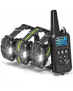 800m elektrický psí tréninkový límec s LCD displejem Pet dálkové ovládání vodotěsné dobíjecí obojky pro šok vibrační zvuk