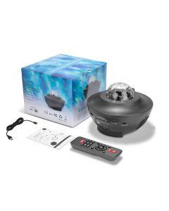 Vodní vlna LED projektor Světle Blueteeth USB hlasové ovládání hudební přehrávač LED noční světlo romantická projekce lampa dárek k narozeninám