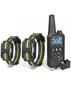 Elektrický výcvik psů s LCD displejem límec vodotěsný dobíjecí bark-stop dálkové ovládání obojky pro šok vibrace zvuk