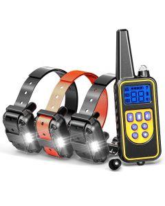 800yd Elektrický dálkový výcvik psů límec vodotěsný dobíjecí LCD displej pro všechny velikosti pípnutí Shock Vibration režimu