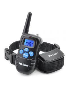 Petrainer 998D 300M Dálkové elektrické psí obojek šok vibrace dobíjecí větru proti deštivý psí výcvik límec s LCD displejem