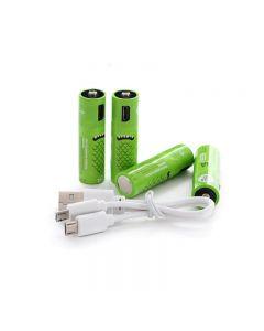 Dobíjecí AA baterie 00mAh baterie s USB porty vysoká kapacita 1.2V NiMH low self vybíjecí dobíjecí baterie AA nabíjení pomocí USB kabelu (4 Pack USB kabel)