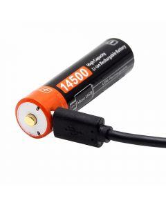 14500 750mAh 3.7 V Micro USB nabíjecí lithium-ion baterie