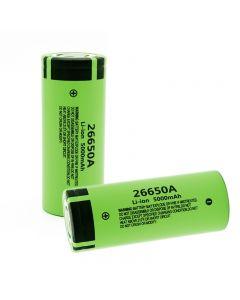 0%Originální Nové 26650A Li-ion baterie 3.7V 5000mA Dobíjecí baterie