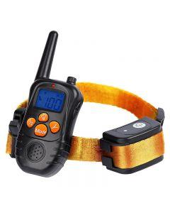 Nové 300M dálkové elektronické psí výcvik obojky s LCD modrá obrazovka displej dobíjecí 0 úrovní Pet elektronické psí obojky