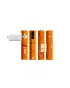 Dobíjecí 1.2V 450mAh AAA Ni-MH USB USB baterie pro dálkové ovládání myši Rychlé nabíjení pomocí micro USB kabel (4 Pack USB kabel)