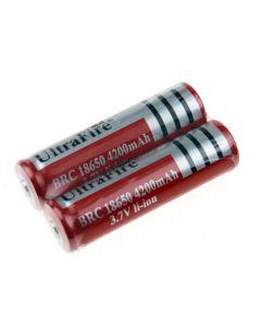 Ultrafire BRC 4200mAh 3.7V Li-ion dobíjecí baterie 18650 (1 pár)