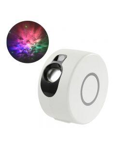 Laser Starry Sky projektor noční světlo 7 barev 360 stupňů rotace Galaxie projekční lampa okolní ložnice noční osvětlení dárek
