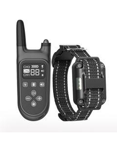 2021 Nový 800m elektrický psí tréninkový obojek Pet Dálkové ovládání Vodotěsné Dobíjení s LCD displejem pro všechny velikosti Shock Vibration Sound