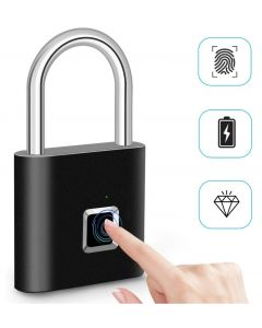 Zámek otisků prstů Inteligentní visací zámek Thumbprint Visany Přenosné zámky proti krádeži otisků prstů pro kufr s taškami