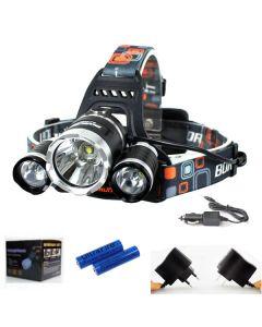 3T6 světlometů 3000 lumenů vysokovýkonové LED reflektor Boruit 3xCREE XM-L T6 4 režim světlomet kompletní sada