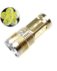 EternalFire král 6T6 6 * Cree XM-L T6 LED baterka 6000 lumenů 3 režimy LED baterka Glod-Light jednotka pouze