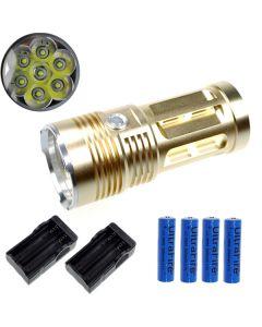 EternalFire král 7T6 7 * Cree XM-L T6 LED svítilna 7000 lumenů 3 režimy LED svítilna-Glod kompletní Set