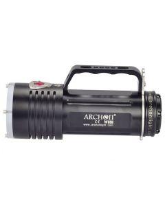 ARCHON DG60 WG66 6 * CREE XM-L2 U2 LED Max 5000lm 3 režimy LED potápění světlo + 6 * 18650 baterie + nabíječka